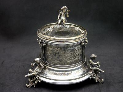 Victorian Cherub Inkwell