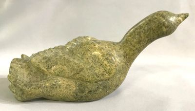 Inuit Soapstone Sculpture of a Loon  Signed Adamee 3