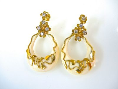Ivory and Diamond Earrings CFA1404141