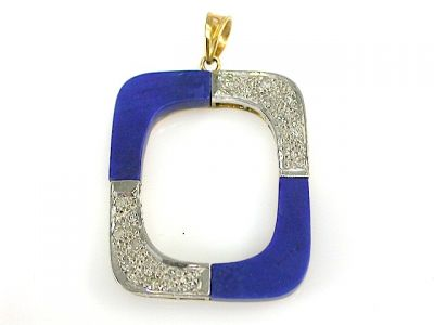 Lapis and Diamond Pendant CFA1310172
