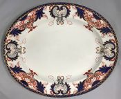 Royal Crown Derby Imari Semi-Porcelain Platter, Pattern # 1270