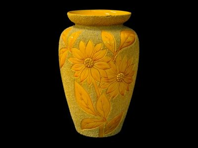 Large Yellow Langley Vase  AP019