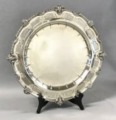 English Regency Style Sterling Silver Salver