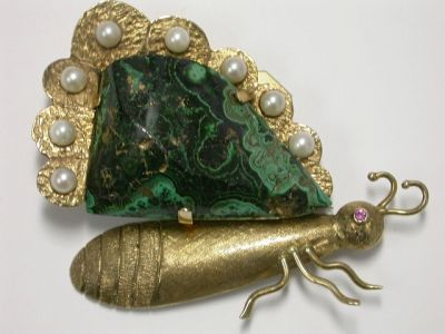Malachite Brooch CFA1312185