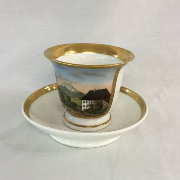 Mid-Nineteenth-Century-Continental-Porcelain-Cup-and-Saucer