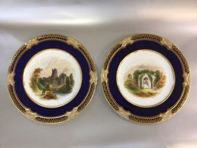 Minton China Mucruss Abbey Plates