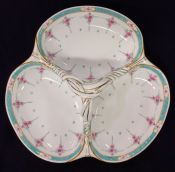 Persian Rose by Minton, 3-Section Serving Dish