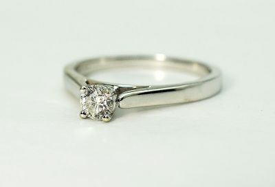 Modern Diamond Solitaire Ring