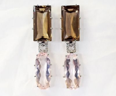 Modern-Smoky-and-Rose-Quartz-Diamond-Drop-Earrings-CFA1801217-84616a