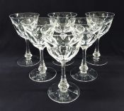 """Moser """"Lady Hamilton"""" Crystal Water Goblets"""
