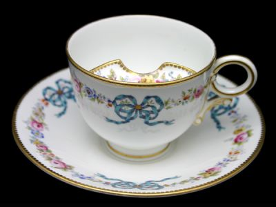 Moustache Cups/Moustache Cup English Bone China Bow Motif 1