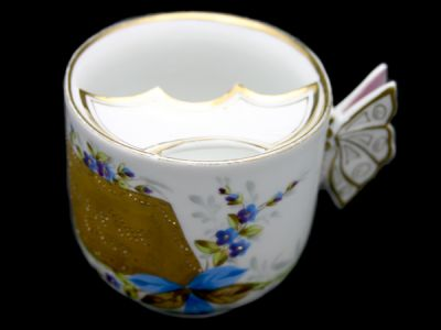 Moustache Cups/Moustache Cup German Butterfly Handle 1