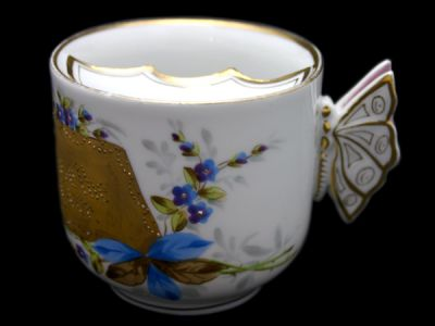 Moustache Cup German Butterfly Handle