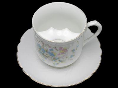 Moustache Cups/Moustache Cup German Extra Large Mug Floral Motif Pattern 2