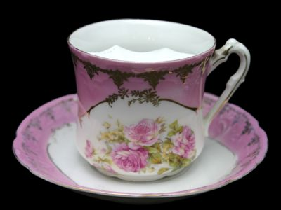 Moustache Cups/Moustache Cup German Rose Motif Pattern 1