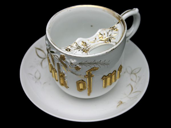 Moustache Cup With Think Of Me Design