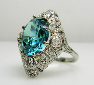 Natural Zircon Ring 084