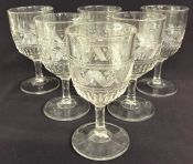 Nova Scotia Glass Water Goblets, Kenlee Pattern