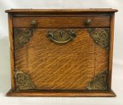 Oak Stationary Box, American, Circa 1900
