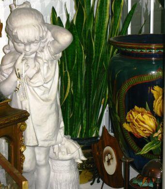 Statue & Doulton Vase