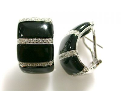 Onyx and Diamond Earrings CFA1311153
