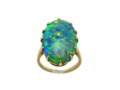 Opal Jewellery/Ring 14Karat Yellow-Gold Opal Solitaire 58538 1