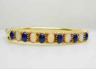Opal and Lapis Bangle AGL45481
