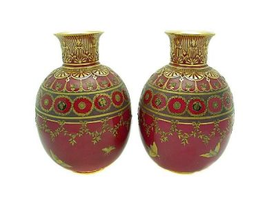 Royal Crown Derby Urns