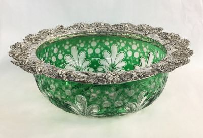 Pairpoint Cased Crystal Centrepiece Bowl