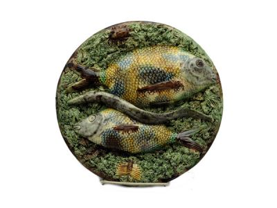 Majolica Palissy Fish and Eel Plate