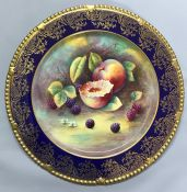 Paragon Golden Harvest Cabinet Plate Signed A. Holland, circa 1955