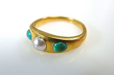 Pearl and Turquoise Ring CFA1403275