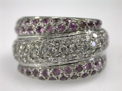 Pink Sapphire Band Cynthia Findlay Antiques CFA1210348
