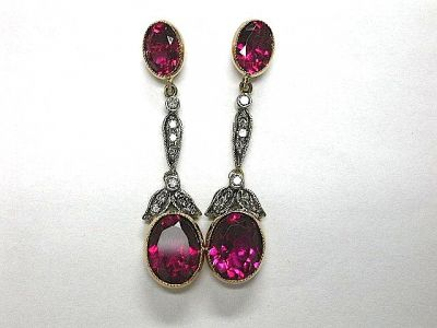Pink Touramline Earrings CFA131124
