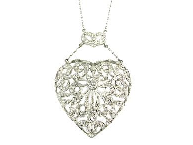 Platinum Diamond Heart CFA130537-Finala