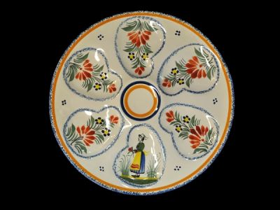 Quimper Oyster Plate  Oy006