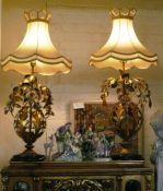 Gold Metal Guilt Lamps