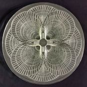 "Rene Lalique Clear Glass ""Coquilles"" Plate"