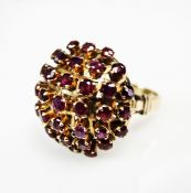 Retro Ruby Cluster Ring