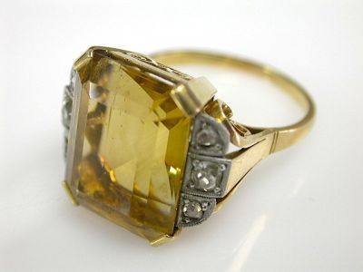 Retro Citrine Ring CFA131131