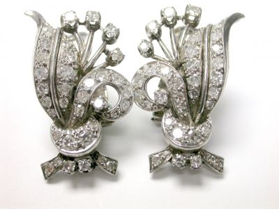 Retro Diamond Earrings CFA1403345