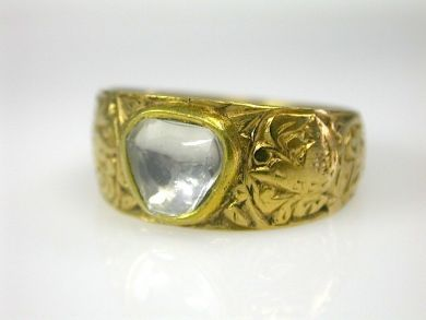 Rose Cut Diamond Ring Cynthia Findlay Antiques CFA130233 1