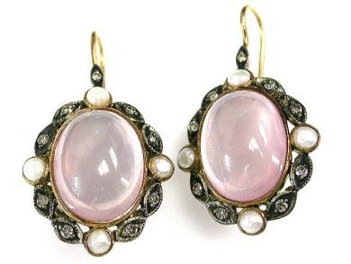 Rose Quartz Drops Cynthia Findlay Antiques CFA1211131C 1