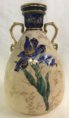 Royal Crown Derby Aesthetic Movement two handled cabinet vase