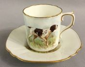 Royal Crown Derby English Pointer Coffee Can & Saucer