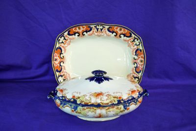 Royal Crown Derby Imari Pattern 3973 Tray  Edwardian  C