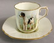 Royal Crown Derby Smooth Fox Terrier Coffee Can & Saucer