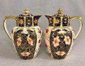 Royal Crown Derby Traditional Imari Syrup Jugs