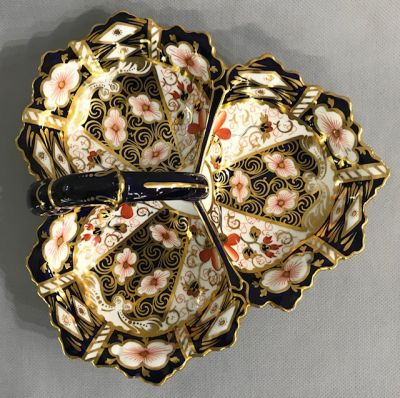 Royal Crown Derby Traditional Imari Trefoil Serving Dish