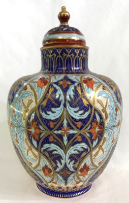 "Royal Crown Derby ""Persian"" Pattern Covered Cabinet Urn"